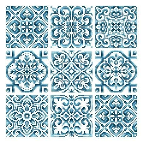 Shannon Christine Designs Hand Painted Tiles cross stitch chart