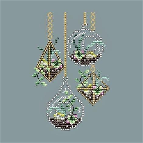Shannon Christine Designs Hanging Succulents cross stitch chart