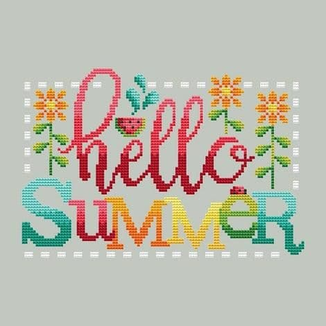 Shannon Christine Designs Hello Summer cross stitch chart