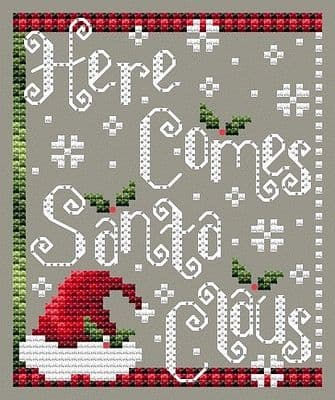 Shannon Christine Designs Here Comes Santa Claus cross stitch chart