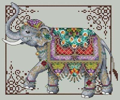 Shannon Christine Designs Jeweled Elephant cross stitch chart