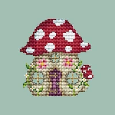 Shannon Christine Designs Mushroom House cross stitch chart