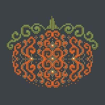 Shannon Christine Designs Orange Swirl Pumpkin cross stitch chart