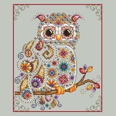 Shannon Christine Designs Paisley Owl cross stitch chart
