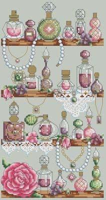 Shannon Christine Designs Perfume Shelf cross stitch chart