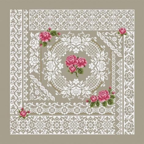Shannon Christine Designs Roses and Lace cross stitch chart