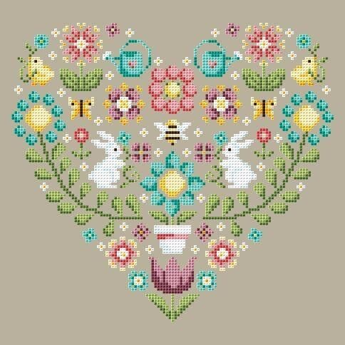 Shannon Christine Designs Spring Heart cross stitch chart