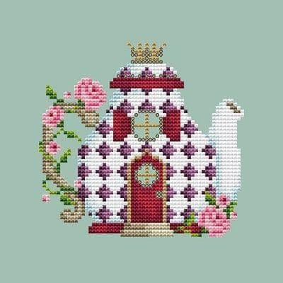 Shannon Christine Designs Tea Pot House cross stitch chart