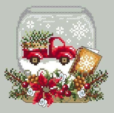 Shannon Christine Designs Truck Snow Globe cross stitch chart