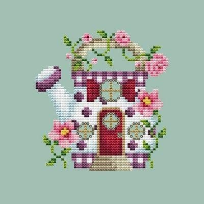 Shannon Christine Designs Watering Can House cross stitch chart