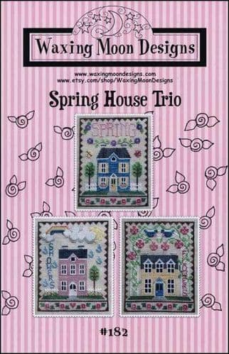 Spring House Trio by Waxing Moon Designs printed cross stitch chart