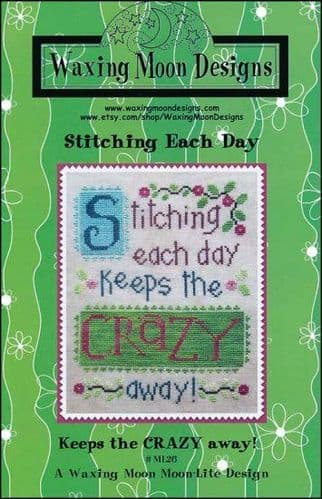Stitching Each Day by Waxing Moon Designs printed cross stitch chart