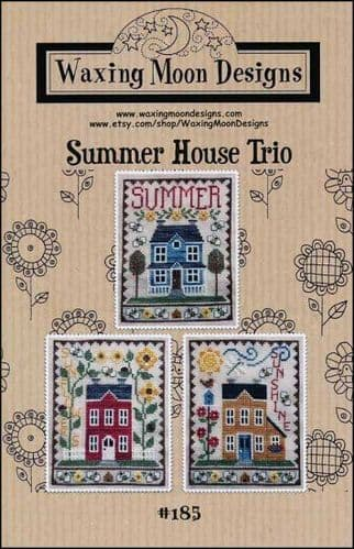 Summer House Trio by Waxing Moon Designs printed cross stitch chart