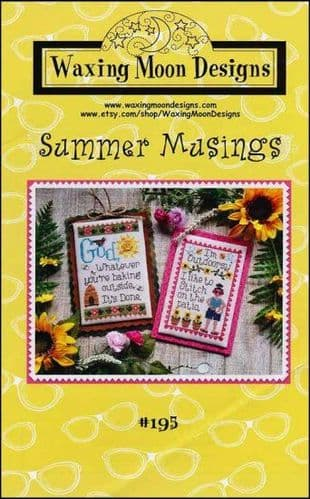 Summer Musings by Waxing Moon Designs printed cross stitch chart