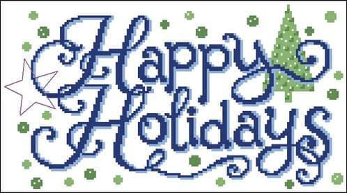 Ursula Michael Happy Holiday Wishes cross stitch chart