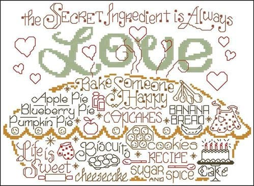 Ursula Michael Let's Bake with Love cross stitch chart