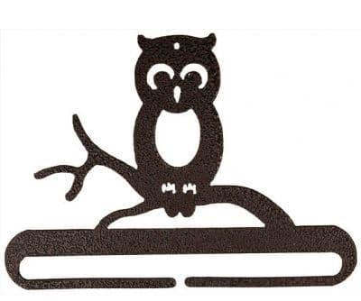 """Whimsical Owl 6"""" Copper Metal Bellpull"""