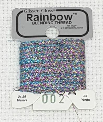 White Flame GlissenGloss Rainbow Thread 280 / R002