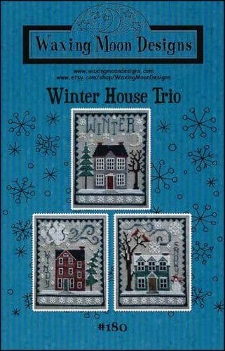 Winter House Trio by Waxing Moon Designs printed cross stitch chart