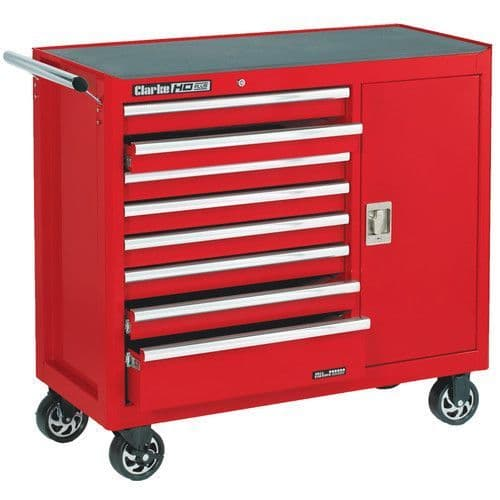 Clarke 7638095 CBB228B Extra Wide HD Plus 8 Drawer Tool Cabinet with Side Door