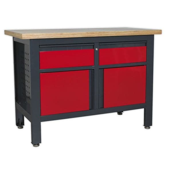 Sealey AP1372A Workstation with 2 Drawers and 2 Cupboards