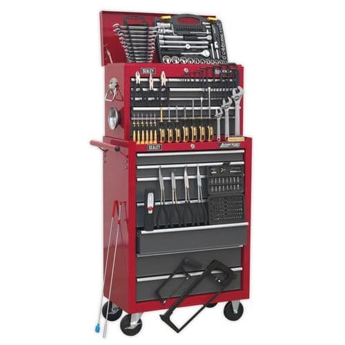 Sealey AP2250BBCOMBO Topchest and Rollcab Combination 14 Drawer with Ball Bearing Slides
