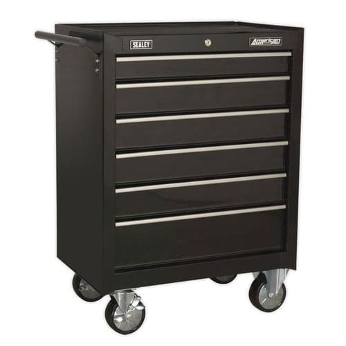 Sealey AP226B Rollcab 6 Drawer with Ball Bearing Slides - Black