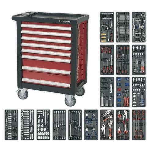 Sealey AP2408TTC08 Rollcab 8 Drawer with Ball Bearing Slides and 707pc Tool Kit