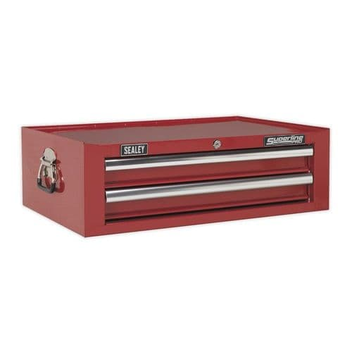 Sealey AP26029T Mid-Box 2 Drawer with Ball Bearing Slides - Red
