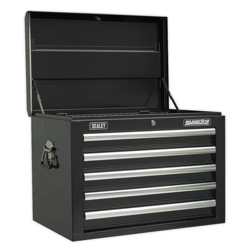 Sealey AP26059TB Topchest 5 Drawer with Ball Bearing Slides - Black