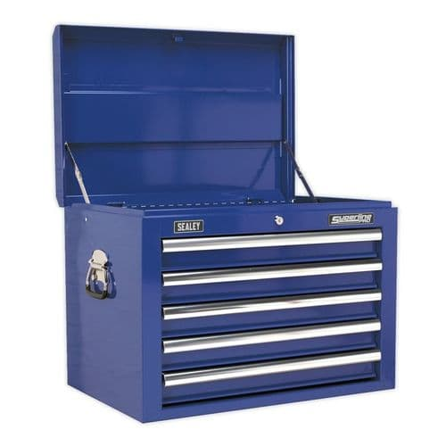 Sealey AP26059TC Topchest 5 Drawer with Ball Bearing Slides - Blue