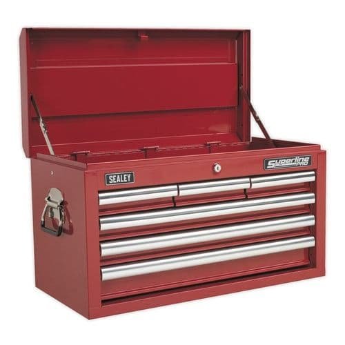 Sealey AP33069 Topchest 6 Drawer with Ball Bearing Slides - Red