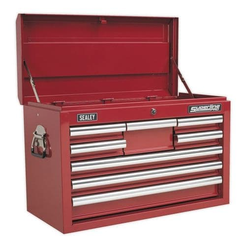 Sealey AP33089 Topchest 8 Drawer with Ball Bearing Slides - Red