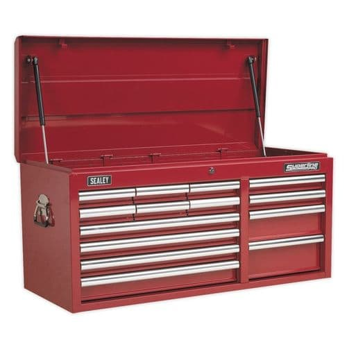 Sealey AP41149 Topchest 14 Drawer with Ball Bearing Slides Heavy-Duty - Red