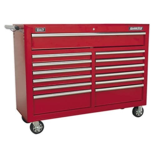 Sealey AP5213T Rollcab 13 Drawer with Ball Bearing Slides - Red