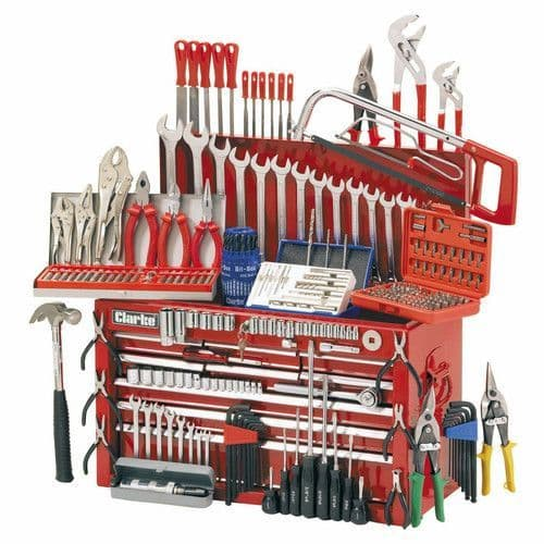 Clarke 1801634 CHT634 Mechanics Tool Chest and Tools Package
