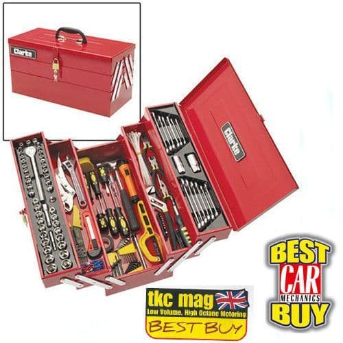 Clarke 1801641 CHT641 - 199 Pce DIY Tool Kit with Cantilever Tool Box