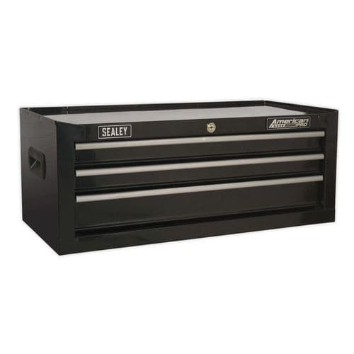 Sealey AP223B Mid-Box 3 Drawer with Ball Bearing Slides - Black