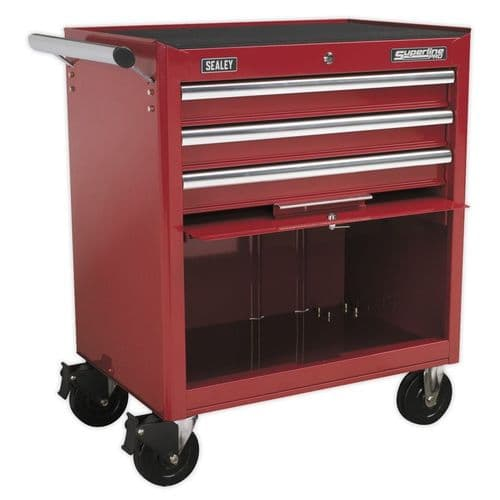 Sealey AP33439 Rollcab 3 Drawer with Ball Bearing Slides - Red