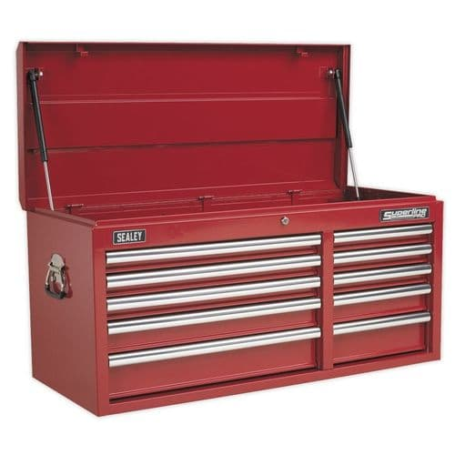 Sealey AP41110 Topchest 10 Drawer with Ball Bearing Slides Heavy-Duty - Red