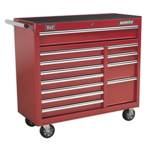 Sealey AP41120 Rollcab 12 Drawer with Ball Bearing Slides Heavy-Duty - Red