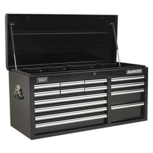 Sealey AP41149B Topchest 14 Drawer with Ball Bearing Slides Heavy-Duty - Black