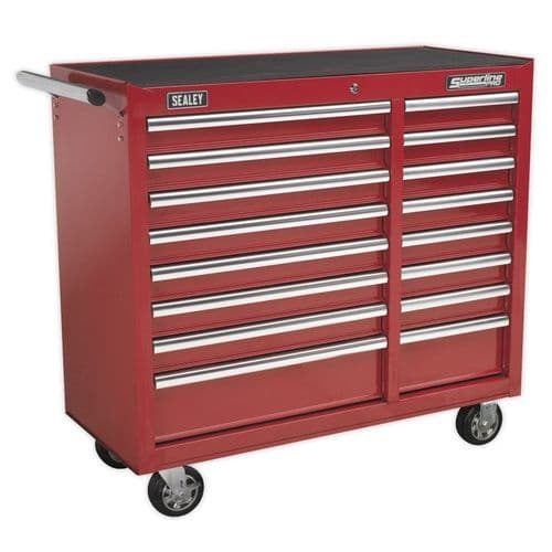 Sealey AP41169 Rollcab 16 Drawer with Ball Bearing Slides Heavy-Duty - Red