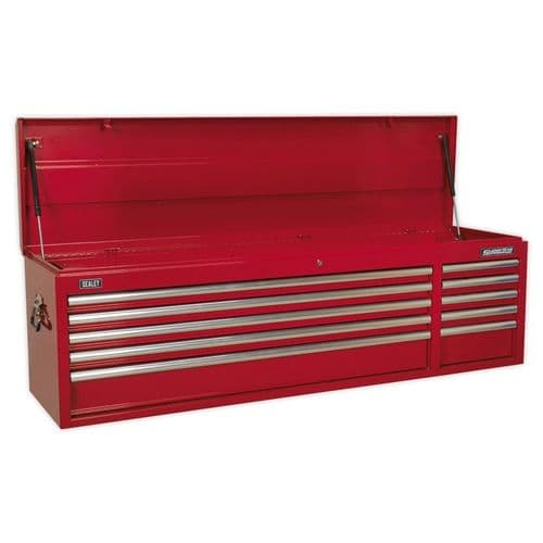 Sealey AP6610 Topchest 10 Drawer with Ball Bearing Slides Heavy-Duty - Red