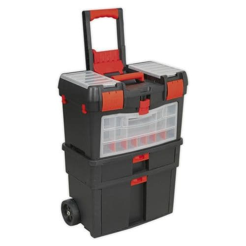 Sealey AP850 Mobile Tool Chest with Tote Tray and Removable Assortment Box