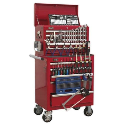 Sealey APCOMBOBBTK55 Topchest and Rollcab Combination 10 Drawer with Ball Bearing Slides