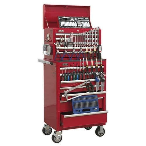 Sealey APCOMBOBBTK57 Topchest and Rollcab Combination 15 Drawer with Ball Bearing Slides