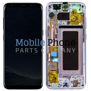 Genuine Samsung Galaxy   S8 G950F LCD + Digitiser Violet / Orchid Grey - Part No: GH97-20457C