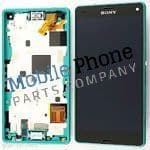 Genuine Sony Xperia Z3 Compact LCD + Digitiser With Frame Green - Part No: 1289-2707