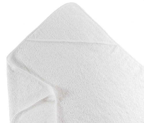 Babies Only Super-Soft Baby Hooded Towel White